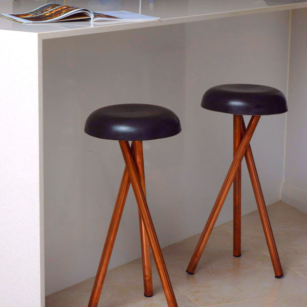 Concrete & Copper Stools