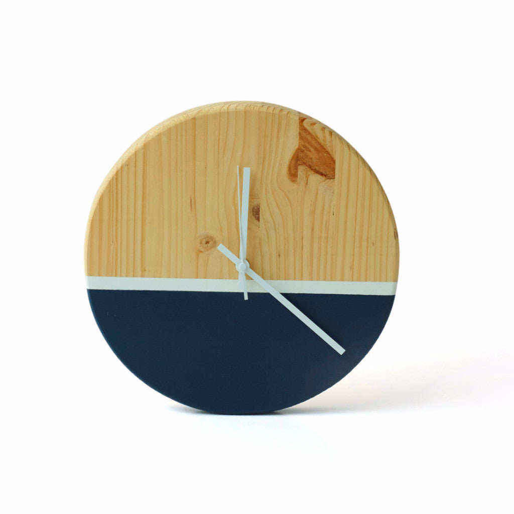 Dipped Timber Clock - Harrison & Co - Lifestyle & Design
