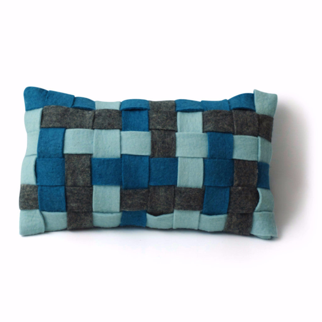 Basket Weave Cushion - Azzurro - Harrison & Co - Lifestyle & Design