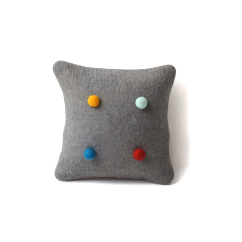 Felt Ball Cushion Tumeric