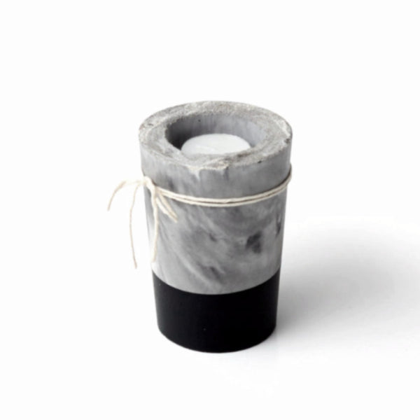 Marbled Concrete Tealight Holder - Harrison & Co - Lifestyle & Design