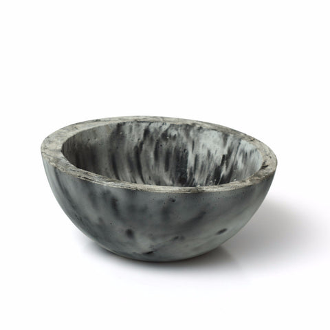 Marbled Concrete Industrial Bowl