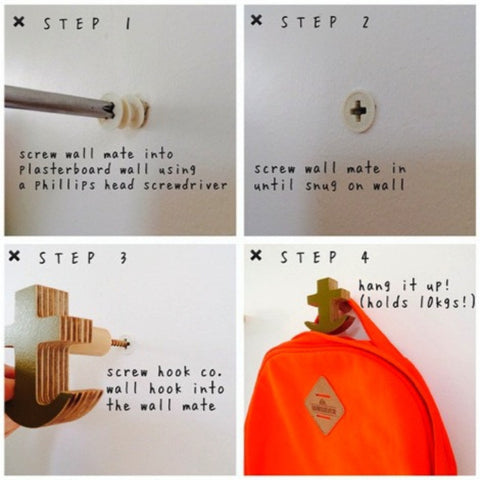 Wall Hook Instructions