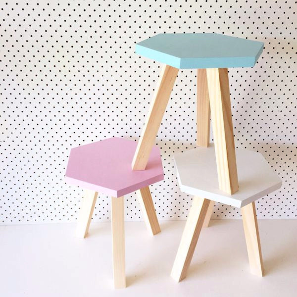 Kids Hexagon Stool - Harrison & Co - Lifestyle & Design