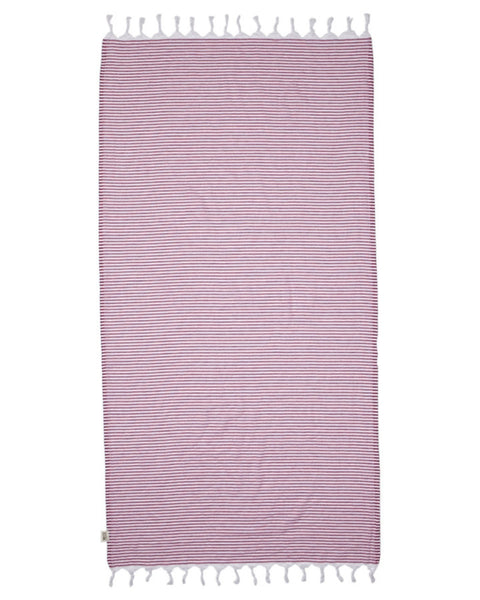 Noosa Turkish Towel - Hot Pink - Harrison & Co - Lifestyle & Design