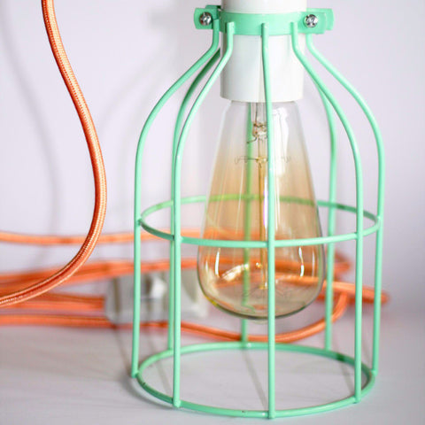 Mint Cage Pendant Light