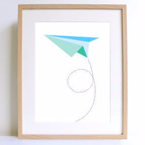 Paper Plane A4 Print - Harrison & Co - Lifestyle & Design
