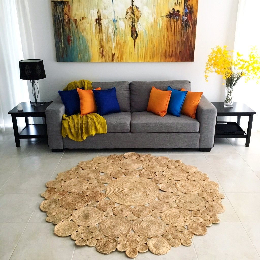 Round Rugs For Living Room Jute Lotus Round Rug Online Unique Rugs Homewares Harrison