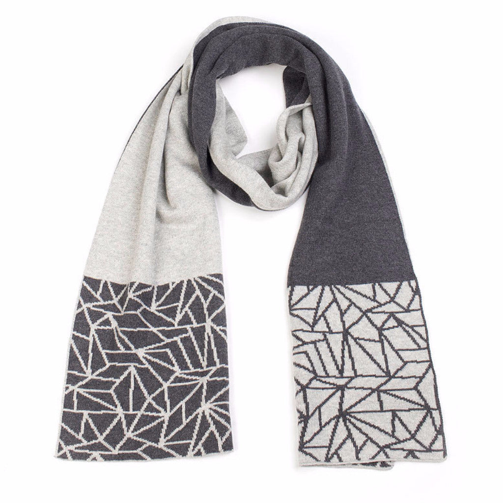 Shard Hem Scarf - Charcoal/Ash - Harrison & Co - Lifestyle & Design
