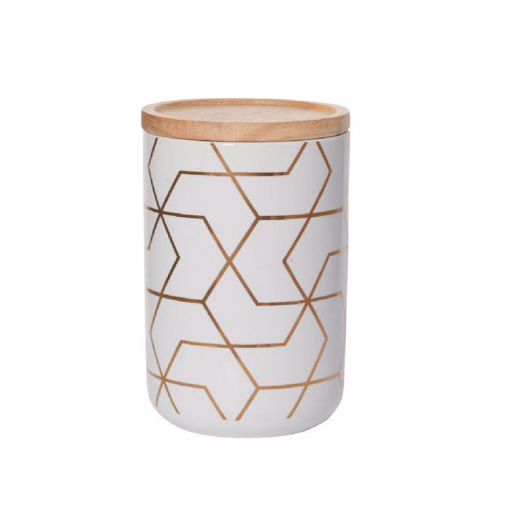 Tall Canister Spiral Hexagon - Harrison & Co - Lifestyle & Design