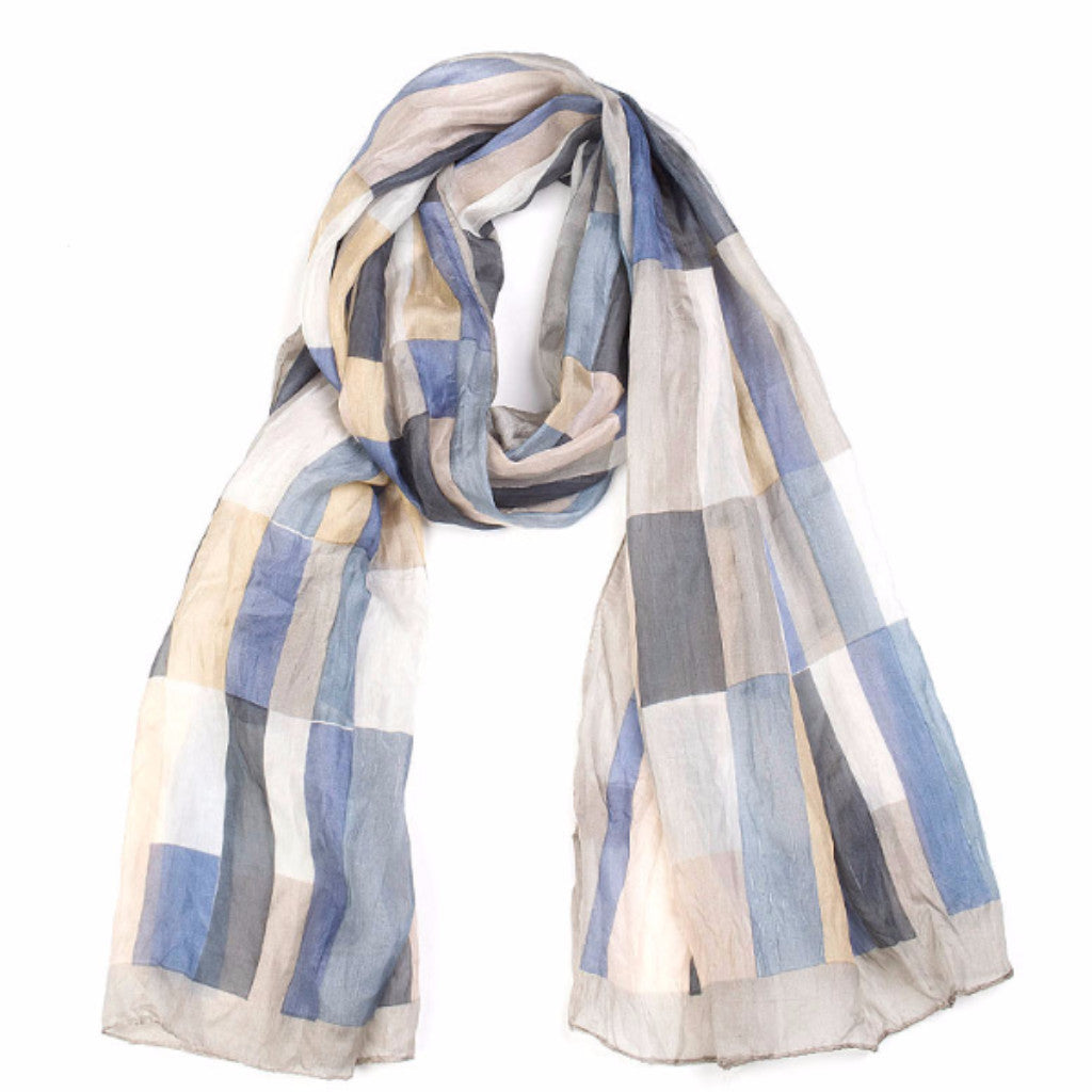 Tiles Scarf - Nude/Dove - Harrison & Co - Lifestyle & Design
