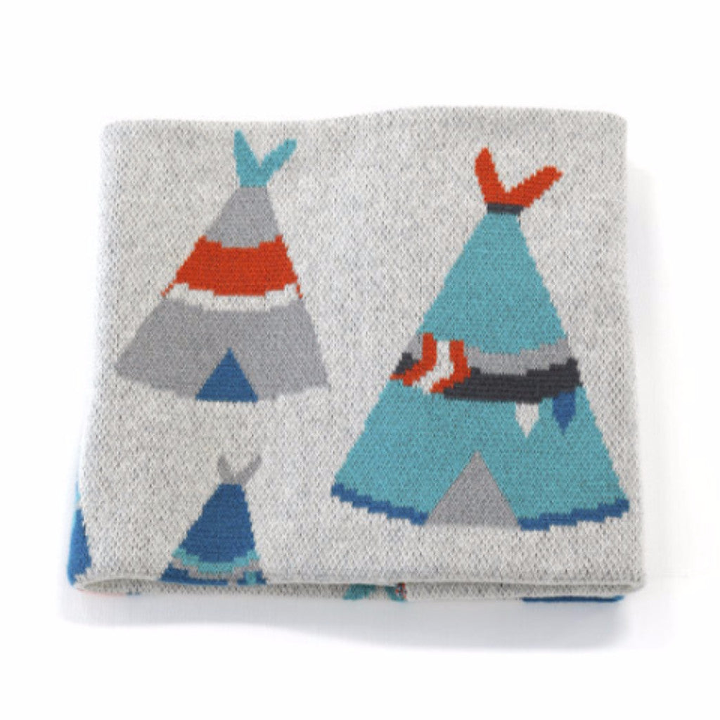 Teepee Tribal Baby Blanket