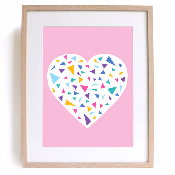 Blush Heart A4 Print - Harrison & Co - Lifestyle & Design