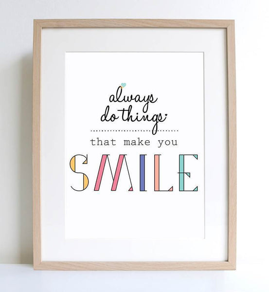 Always Smile A4 Print - Harrison & Co - Lifestyle & Design