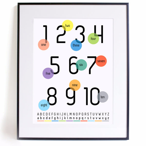 Number Crunch A3 Print - Harrison & Co - Lifestyle & Design