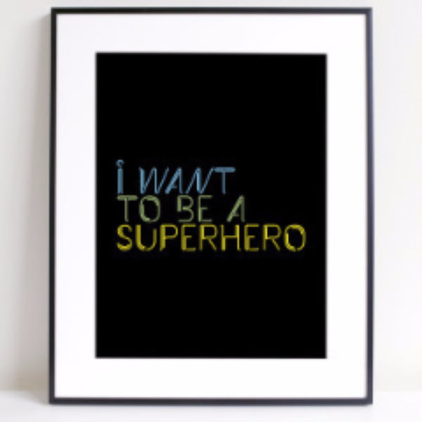 Neon Superhero A4 Print - Harrison & Co - Lifestyle & Design