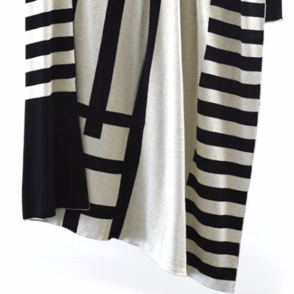 Black Ladder Cotton Throw - Harrison & Co - Lifestyle & Design