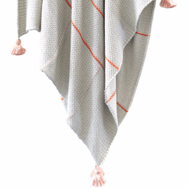 Textured Tassle Cotton Throw