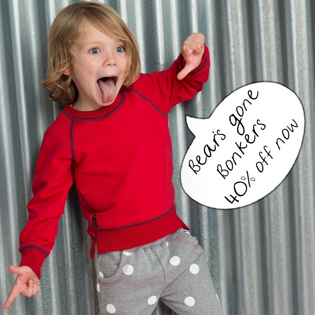 It's our end of season sale, and Bear's gone bonkers with up to 40% off at www.wheresthatbear.com