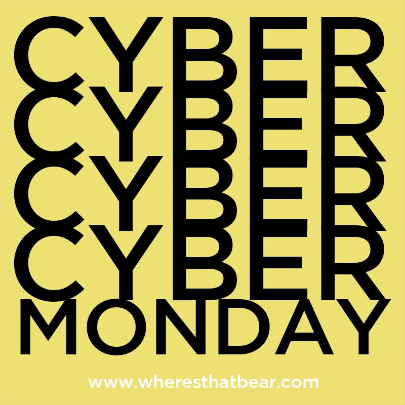 It's Bear's big Cyber Monday flash Sale! Get great deals on our favourite lines. Hurry, it's for 24 hours only...