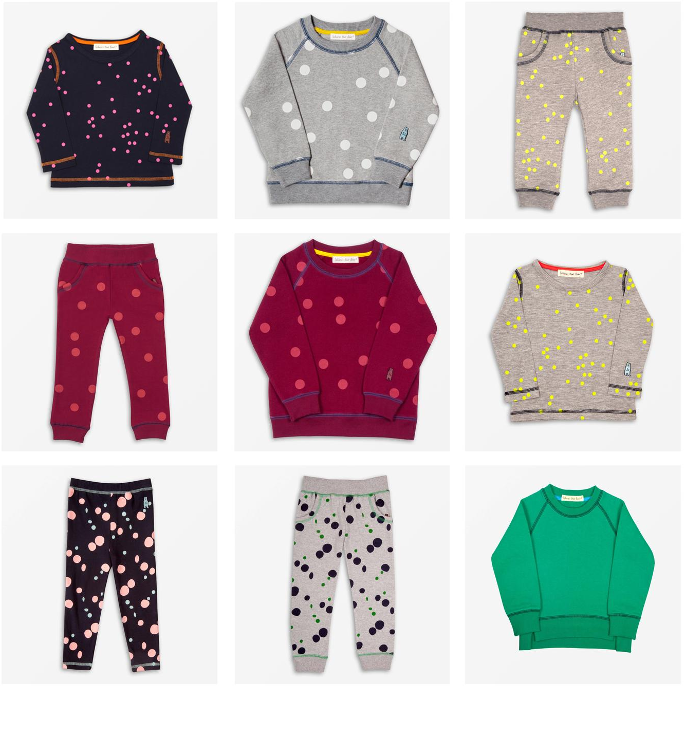 Go Dotty! Our jersey essentials are covered in multi-coloured dots. Shop the range today and get an extra 10% off.