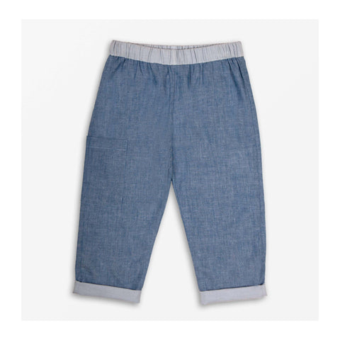 Beach Chambray Trousers - Reversible front
