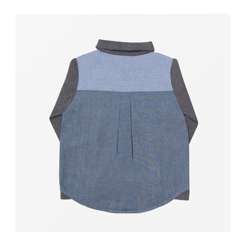 Chambray Patch Shirt back