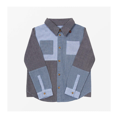 Chambray Patch Shirt front