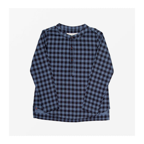 Chelsea Check Top Rainfall Blue front