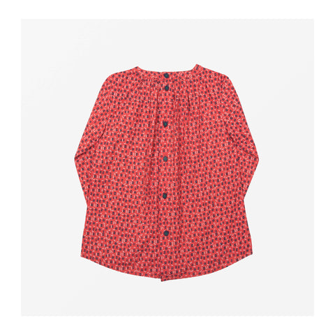 Edie Dot Top Volcano Red back