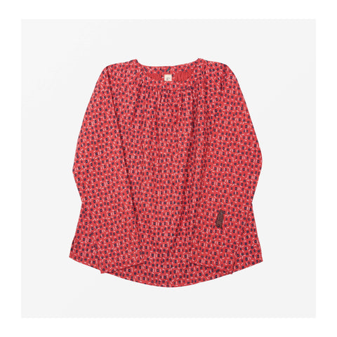 Edie Dot Top Volcano Red front