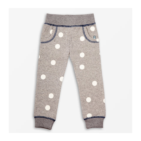 Moon Spot Jersey Joggers Grey Marl front