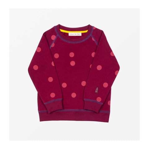 Moon Spot Jersey Sweater Dark Berry front