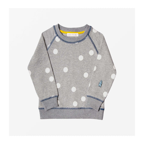 Moon Spot Jersey Sweater Grey Marl front
