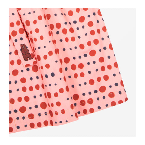 Pebble Dot Dress Peach Sorbet