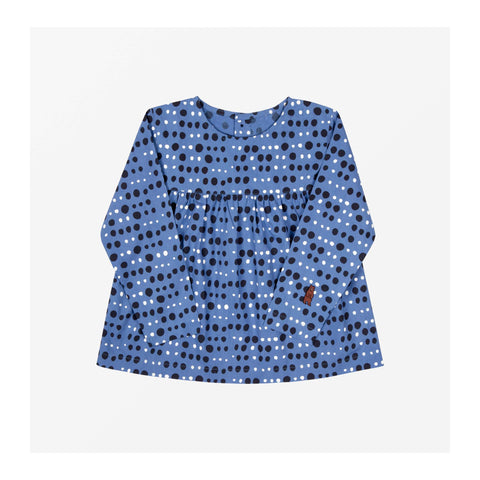 Pebble Dot Top Cornflower Blue front