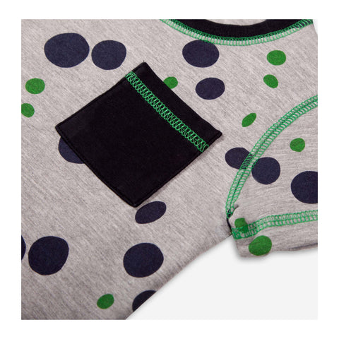 Puddle Spot Jersey T-Shirt Grey Marl