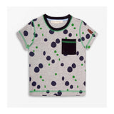 Puddle Spot Jersey T-Shirt Grey Marl front