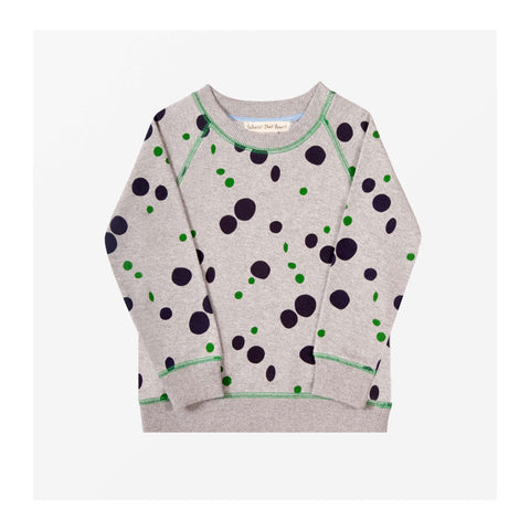Puddle Spot Jersey Sweater Grey Marl front