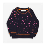 Speedy Dot Sweater - Navy Front