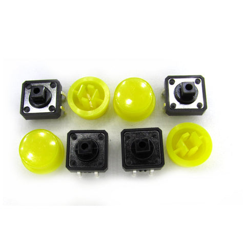 4 x Yello Tact Switch and Cap