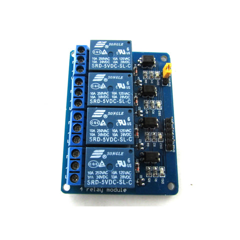Four Channel DC 5V 10A Power Relay Module