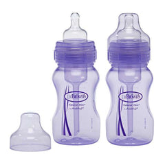 8oz Wide Neck 2pk Purple Baby Bottle by Dr Brown's