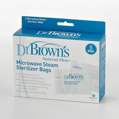Steam Sterilizer Bags for Microwave by Dr Brown's