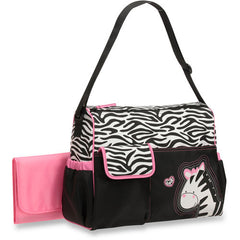 Diaper Bag Black White & Hot Pink Zebra Baby Boom