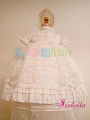 Baptism Gown for girl  mod. Isabella