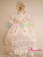 Baptism Gown for girl  mod. Amanda