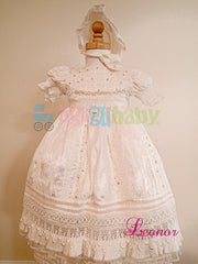 Baptism Gown for girl  mod. Leonor