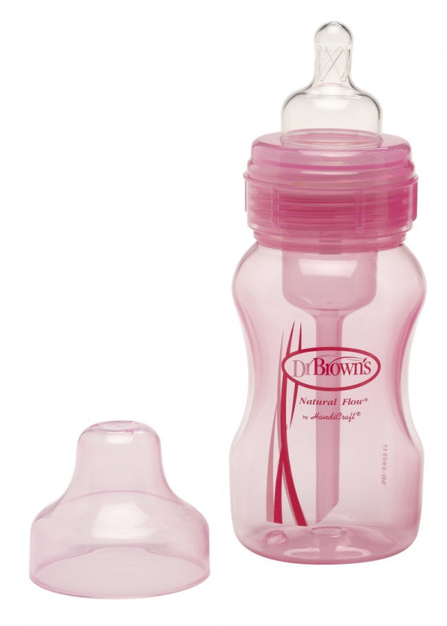 8oz Wide Neck Pink Baby Bottle by Dr Brown's
