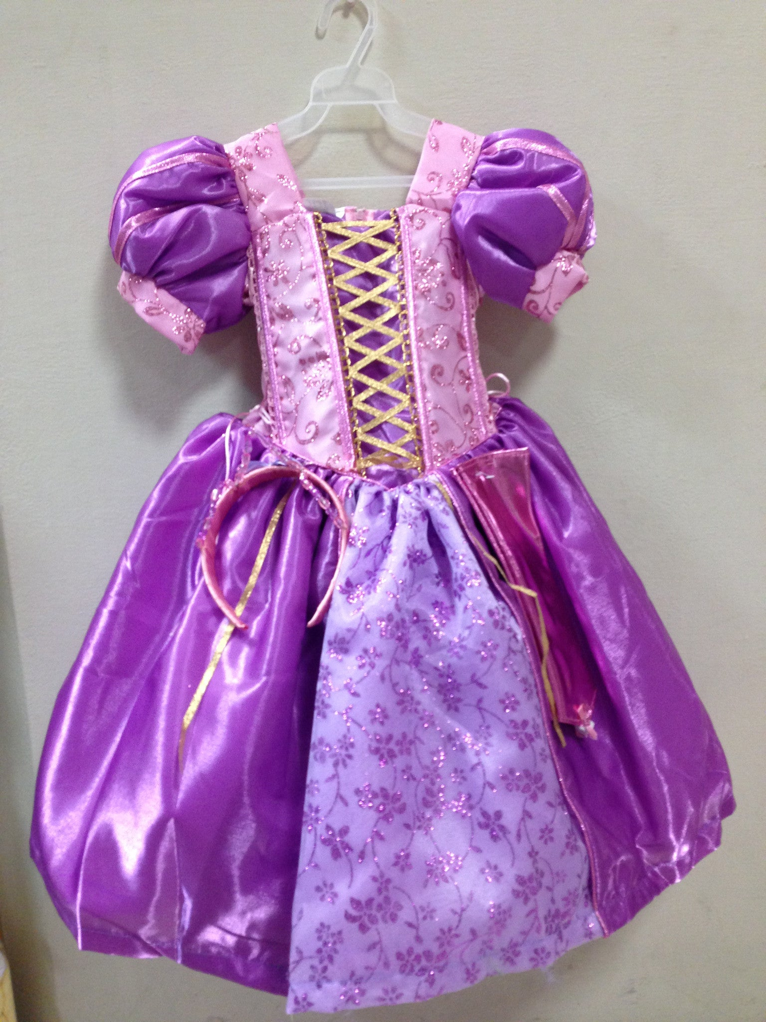 Rapunzel Princess Costume with Gloves Included